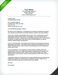 Sample Of A Professional Cover Letters Photographer Letter