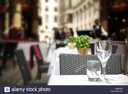Napkin In Glass Design Table Setting Of Wine Glass Water Glass And Napkin On The