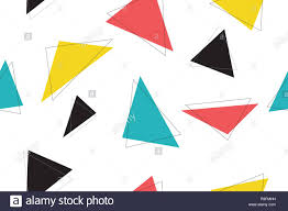 Graphic Design Shapes Abstract Seamless Pattern Made With Colorful Triangle