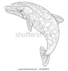 Coloring Page Of A Dolphin Coloring Pages Playing Dolphins Coloring