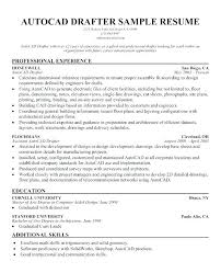 Resume Draftsman Autocad Drafting Cover Letter Drafting Autocad
