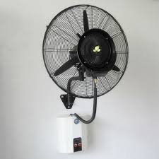 ceiling black wall mounted fans in stainless with 2 on powers
