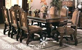 Dining Room Table Sets Leather Chairs Collection Cool Decorating Design