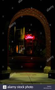 Lighting Stores Seattle Washington Retro Image Of Shops In Ballard At Night Seattle Washington