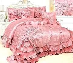 ruffle comforter set 6 fl royal princess dream solid pink twin white ruf
