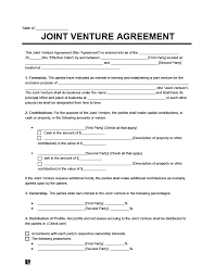 A business partnership agreement is a legal document that is signed between two or more parties (partners this business entity — a partnership entity between the two or more individuals a business partnership agreement template has the following details and contents that you need to fill. Free Joint Venture Agreement Template Examples Legal Templates