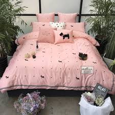 dog crib bedding s egyptian cotton cartoon dogs print luxurious bedding sets duvet cover flat