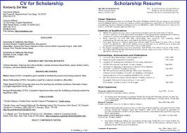 How To Write Impressive Resume For Scholarship within College Scholarship  Resume Examples