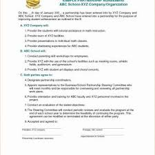 Business Partnership Contract Template Save Partnership Agreement ...