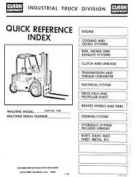 Clark Forklift Wiring Schematic Diagram for 7Fdau50