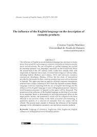 pdf the influence of the english