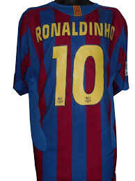 Barcelona 2005-06 home shirt XL Mens RONALDINHO 10 #S447. - Classic  Clothing Crib