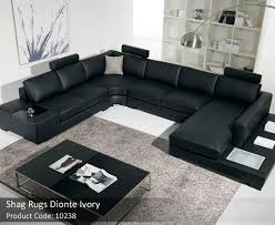how big should an area rug be under a sectional awesome ivory rug 95 00
