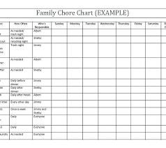 Printable Family Chore Chart Template Chore Chart Template For Family Make Your Own Free Printable Charts