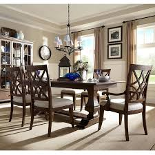 7 piece trisha yearwood dining set in brown nebraska furniture mart