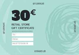 Gift Certificate Template With Logo Create Personalized Gift Certificate Templates Vouchers