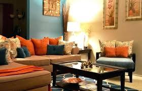 gray tan and orange living room orange living room decor burnt walls in orange living room