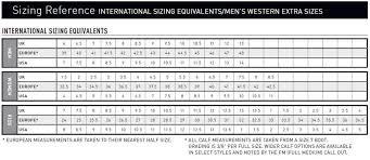 Old West Boots Size Chart 29 Disclosed Dingo Boot Size Chart