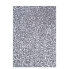 Silver Chunky Glitter Fabric Sheet Hobby Lobby 795401