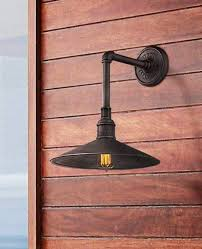style outdoor barn light in an old silver finish with an edison bulb