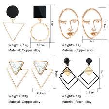 X&P <b>New Fashion</b> Round Dangle Drop <b>Korean</b> Earrings For Women ...