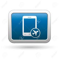 Vettoriale - Telefono Con In Icona Della Modalità Aereo Sul Blu Con Argento  Pulsante Rettangolare Illustrazione Image 18699913.
