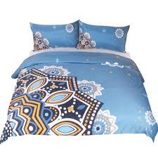 Blue Pattern Duvet Cover Interesting Decorating