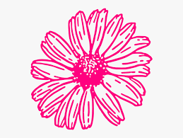 flower chain clipart black and white