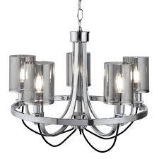 Luxus Pendel Lampe Kronleuchter Schlaf Zimmer Glas Hänge Decken Leuchte Lüster Searchlight 9045 5cc