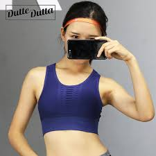 Duttedutta <b>Sexy</b> Hollow Out High Impact Sports <b>Bra</b> Mesh <b>Back</b> ...