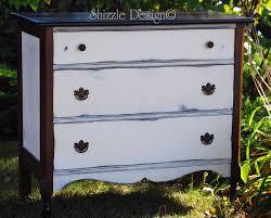 antique white chalk paintShizzle Design  Petite Antique Dresser Painted in Annie Sloans