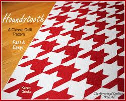 Houndstooth Quilt Pattern Modern quilt pattern Retro quilt & Houndstooth Quilt Pattern, Modern quilt pattern, Retro quilt pattern, Twin,  Easy, 61