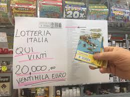 Lotteria Italia terza categoria Cambiago biglietto vincente ...