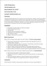 Medical Research Resume Sample   Krida.info