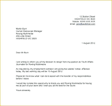 2 Week Notice Letter For Work Return To Work Notice Template Leaving Job Letter Writing A
