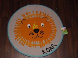 kids non slip backing 80x80cm mats rugs schools homes lion roar mats new circle