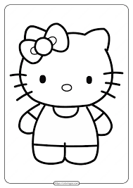 Free printable coloring pages hello kitty coloring sheets. Free Printable Hello Kitty Coloring Pages