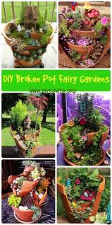 fairy garden pots. Think Twice Before Dumping Your Broken Pots They Can Turn Out To Be Useful And With Fairy Gardens In Garden