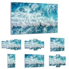 glass prints picture wall art sea