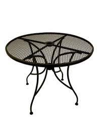 round outdoor patio table with base