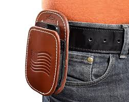 all american leather cell phone holster fits iphone 5 6 7 8 samsung galaxy s6 s7 s8