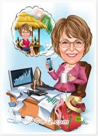 retirement gift caricatures