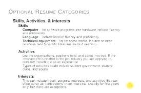 Hobby And Interest In Resume Interests For A Resume Hobbies And Interests On Resume Example
