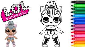 Color, cut out, and assemble the crown template pieces following the instructions in our royal paper crown craft. Coloring Lol Surprise Doll Kitty Queen Coloring Page With Markers Funtime Coloring Youtube