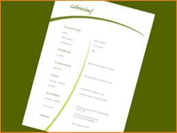 10 Word Vorlagen Lebenslauf Resignation Format