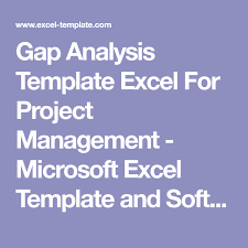 Gap Analysis Template Excel For Project Management - Microsoft Excel ...