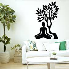 big tree wall decals yoga meditation wall decals tree wall decal blossom  yoga meditation relaxation om . big tree wall decals autumn tree trunk ...