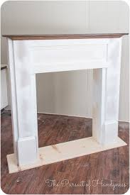 diy faux fireplace 27