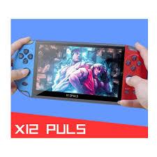 Máy chơi game X12 PLUS 16GB màn 7 inch - Chơi game PS1 và 10 hệ máy, chép  sẵn hơn 10.000 game - Máy chơi Game khác Nhãn hiệu OEM