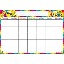 Smart Chart Emoji Calendar 13x19 Smart Chart Poly